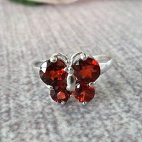 Free Shipping Genuine  Jewelry Ring,Fashion Women Ring,Garnet Silver Ring,Quality 925 Fine Jewelry J0405148ags