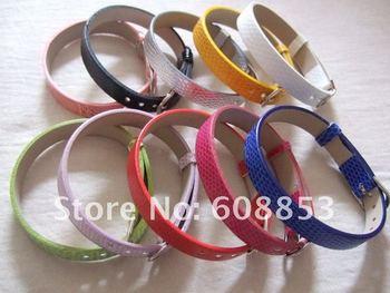 20Pcs 10MM Assorted Artificial Leather Belt Charms Bracelet Fit 10mm slide charms