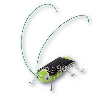 Free Shipping Solar grasshopper, Solar toys, Solar educational toys, 6g  5pcs/lot
