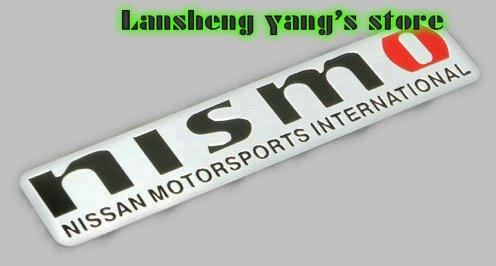 Free shipping 50pcs High quality NISMO STICKER CAR Sticker Emblem Decal car badge 120*26mm Aluminum Alloy G100 factory supplier(China (Mainland))