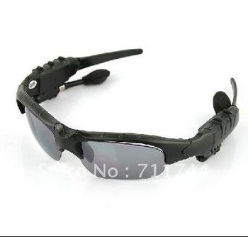 Free shipping/Bluetooth + FM radio-Headset Sunglasses Mp3 Player-2GB(US Plug)