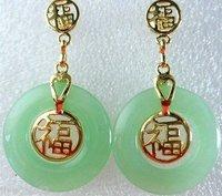 Jewellery Green Jade Fortune Earring