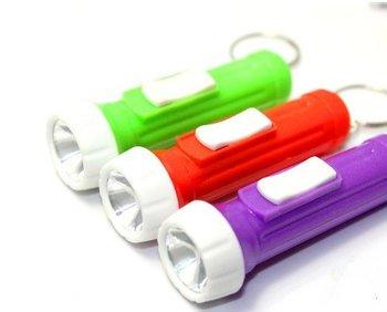 Travelling Mini  Light LED Flashlight White Torch Key Chains Ring Keyrings Free shipping