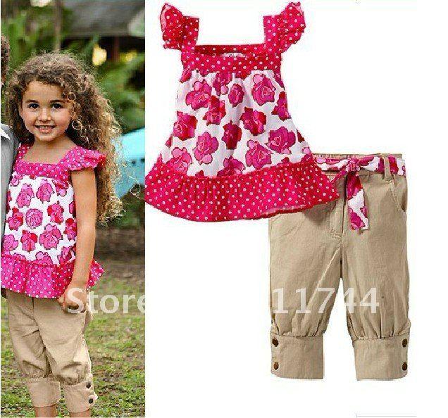 ... clothing set girl flora dot tank top+pants girl summer clothing set
