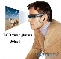 Portable cinema glasses video MP4 player with 50inch virtual reality display max 32GB memory, DHL free shipping