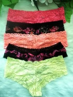 Free shipping Wholesale lace panties (50pcs/lot)120501-p01 lace boyshort