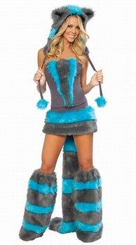Fur Corset costume, Cheshire Cat Corset Costume S8523