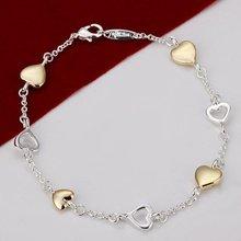 cheap heart bracelets silver