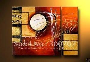 PINTURA A ÓLEO nova do ARTESANATO do transporte livre handmade da pintura a óleo 100%: PAVÃO BONITO COM POMBA