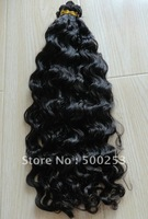 Natural Color Deep Curl Indian Virgin Hair Hand Tied Weft