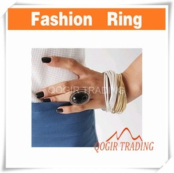 New Fashion Exquisite Leaves Oval Pear Rings Free Ship 6550(China (Mainland))