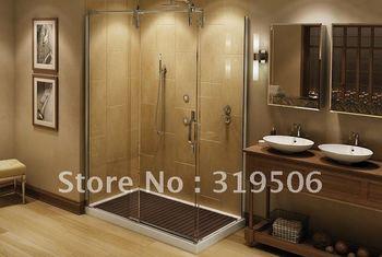 Free shipping modren 304 stainless steel elegant sliding shower door hardware roller for 8mm-12mm glass shower door