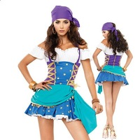 Wholesale Hot pirate costume Pirates of Sexy costumes sea rover Uniforms Halloween style C416
