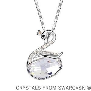 2014 New! Crystal necklace crystal jewelry fashion swan necklace made with Swarovski Elements