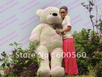 Hot Sales White Giant Plush Stuffed Teddy Bear Free Shipping FT90056 78 INCHES (200cm)