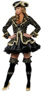 Wholesale Hot pirate costume Navy Uniforms one-eyed pirate sea rover Halloween costumes ideas C417
