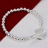 Free Shipping Wholesale 925 silver Fashion Jewelry Bracelets, 925 Silver Bracelet,factory price,6MM prayer beads bracelet SB71