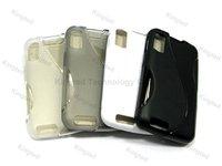 200pcs/Lot S Line TPU GEL Case Cover for Motorola ATRIX 4G MB860