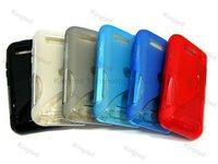 200pcs/Lot S Line TPU GEL Case Cover for Motorola Defy ME525 MB525