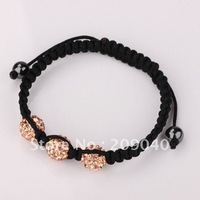 Free shipping/New Tresor Paris.shamballa bracelets.shamballa 3 Ball Bead.Hand Woven chain.fashion jewelry Wholesale