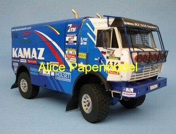 [Alice papermodel] Long 30CM 1:24 Kamaz 4911 rally racing truck car F1 car sedan models