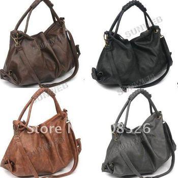 2013 Hot Sale New Korean Style Lady Hobo PU Leather Handbag Shoulder Bag free shipping 3877