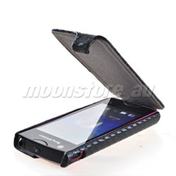 Flip Leather Skin Case Protector +Stylus Pen + USB Cable mobile phone case for sony ericsson xperia ray st18i(China (Mainland))