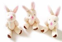 Wholesale 100pcs Lovely rabbit flush baby toys, plush toys. Soft Puppy Child Favor , 9-10cm