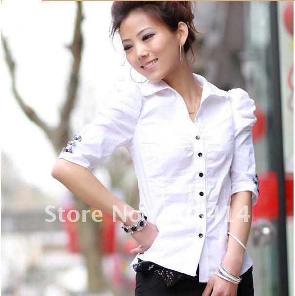 Женские блузки и Рубашки Sunzhifeng OL slim bowtie 028