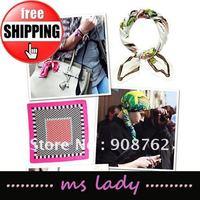 woman scarves 50cm square scarf 10pcs/lot free shipping HK airmail
