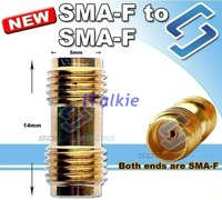 SMA Female to SMA female adaptor connector FOR PX-888K TG-UV2 UV-5R TH-UVF1 FD-268 KG-UVD1P