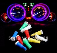 10pcs T5 Wedge 74 1-SMD 5050 LED Car Dashboard Instrument Panel Light New