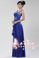 Blue cheap Bridesmaid Dress 2012 sleeveless free shipping