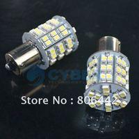 2 X Ba15s 60-SMD LED Car Bulb Cold White DC 12V Brake/Stop Tail Light Lamps New Free Shipping