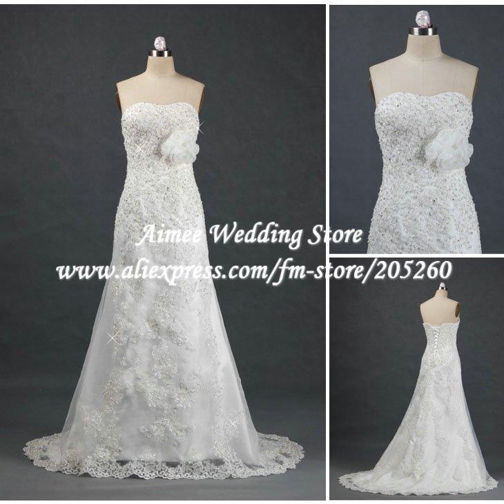 Ra253 vintage a line sweetheart off shoulder real sample for Cover up wedding dress