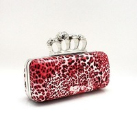 Вечерняя сумка Hot 2013 fashion Skull Clutch Knuckle Rings Handbag, ladies'lace Four finger Evening Bag Punk Wallet, Gift bag