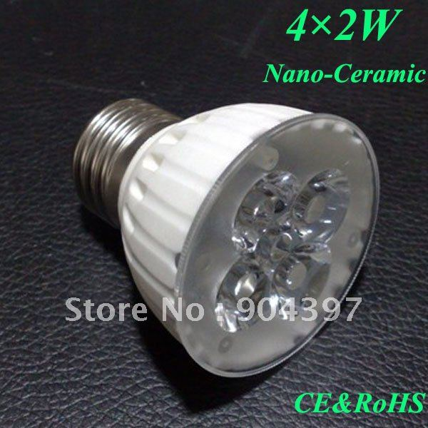 10X Ceramic E27 LED Bulbs Lights 8W Downlight, New Design, Warm/Nature/Cool White(China (Mainland))