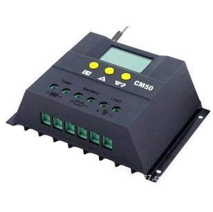 solar charge-discharge controller 12V/24V 50A solar system power supply CE ROHS technology patents free shipping(China (Mainland))