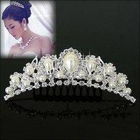 W1   Crown Tiara FZ9 Elegant Rhinestone Crystal   bridal hair Jewelry Wedding Bride Party  O-QY-H011-7   wholesale