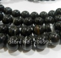 "Wholesale 8mm Black India Agate Onyx Round Loose Beads 15"" 2pc/lot fashion jewelry"