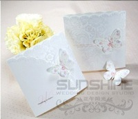 invitation card, wedding cards, W1134, butterfly wedding card, come with envelope, print your text, free shipping