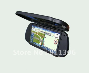 free shipping lastest 7inch car gps rearview mirror monitor with bluetooth/FM /4G memory with mapping free