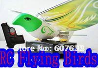Remote Control Bird RC Flying Birds + Toy Gun R/C Flying E-Bird Remote Control Helicopter Toys Bird
