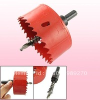 Red Bimetal Hole Cutting Tool 75mm Diameter Hole Saw