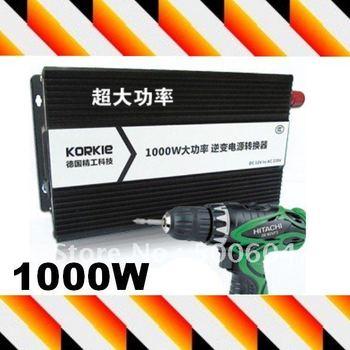 Dual use High power 1000W Home power inverter Car inverter DC12V to AC220V Emergency Power supply equipments
