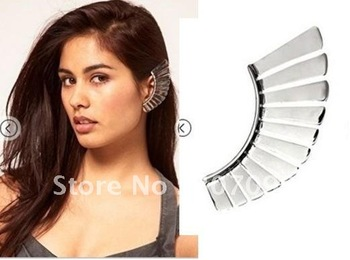 Freeshipping vogue design puck cool ear Cuff stud earring cc0967