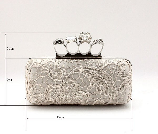 Free shipping,Fashion Bride Woman Handbags,Wedding rings skull Clutches Slap-up bag,2012 Evening Bag,Lady party gift silk bag