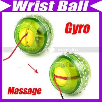 LED Light Wrist Strength Exercise Massage Massager Ball New LED Lights Power Exercise Gyro Wrist Ball #1918