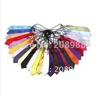 Hot Sale! Whoelsalesolid Color Imitated Silk Child Necktie BoysTies Kids Ties Children Neckwear Christmas Gift #0796