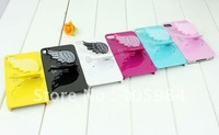 Angel wings PVC cases with holder function for iphone4 /4S 10pcs/lot
